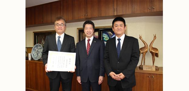 2010年3月12日に枚方市長より感謝状をいただきました!